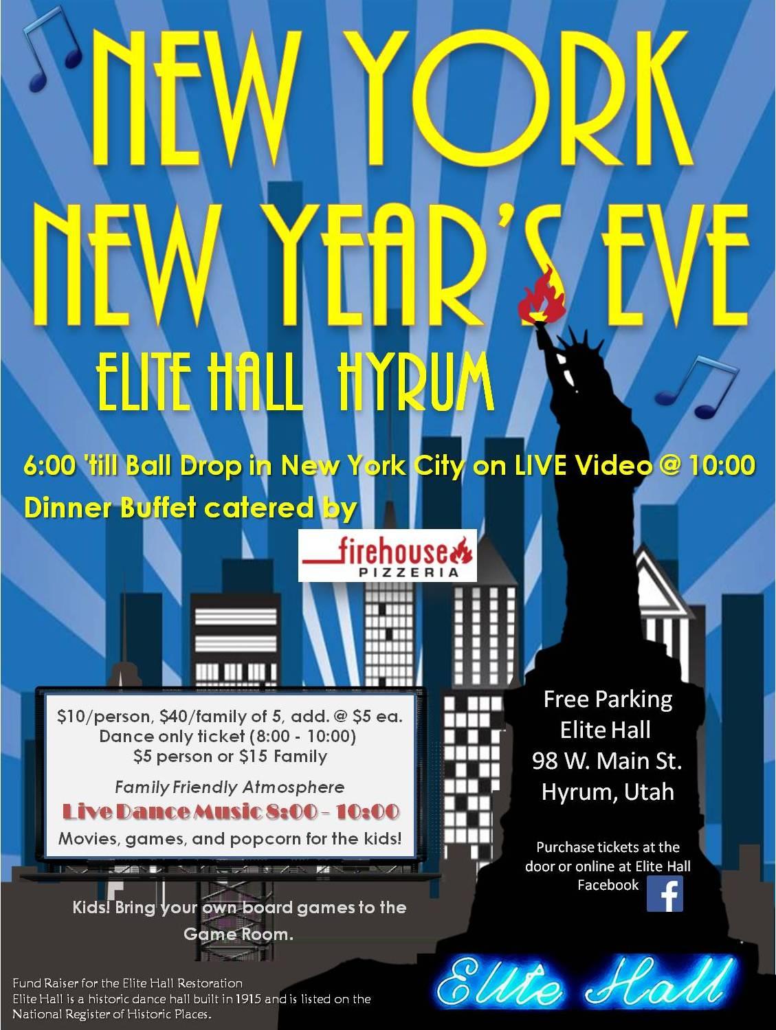 New York New Year's Eve @ Elite Hall