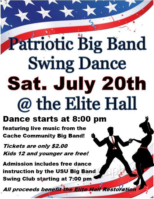 Patriotic Big Band Swing Dance at Elite Hall! – Hyrum City Museum