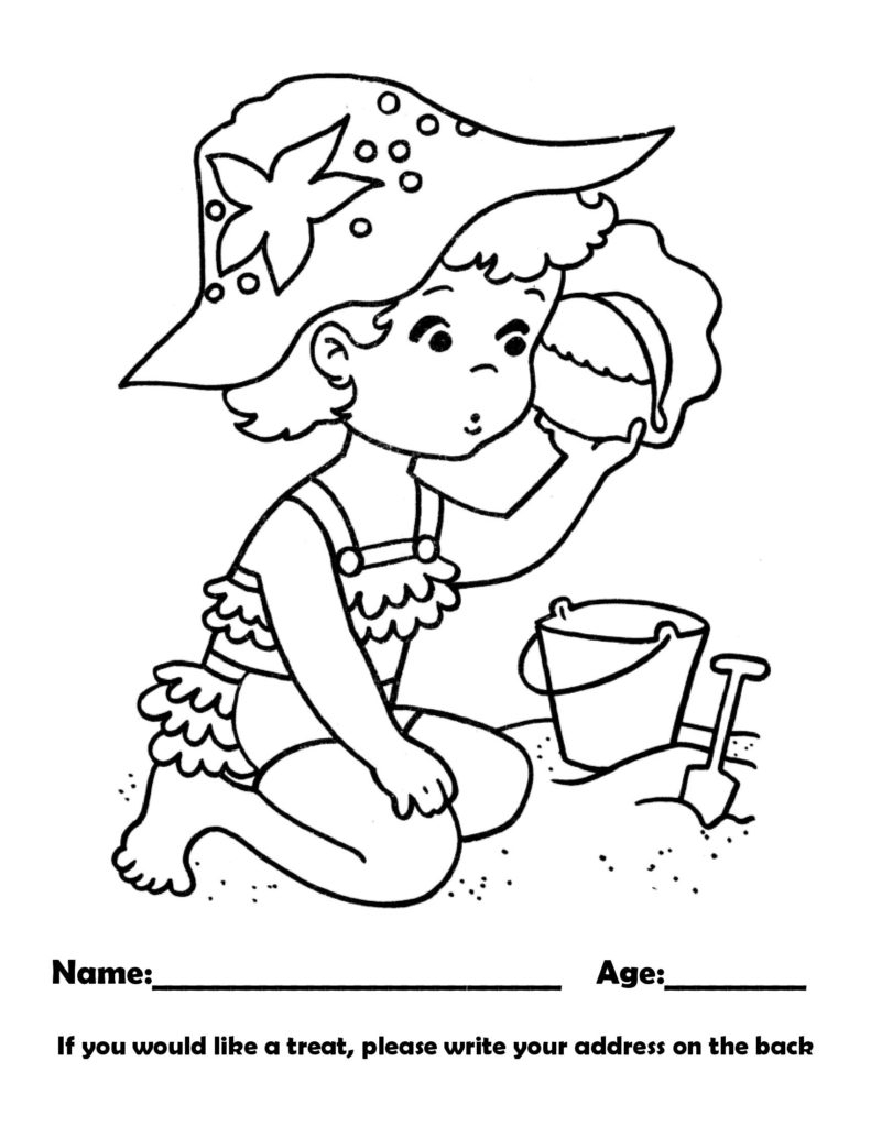 September 2021 coloring page